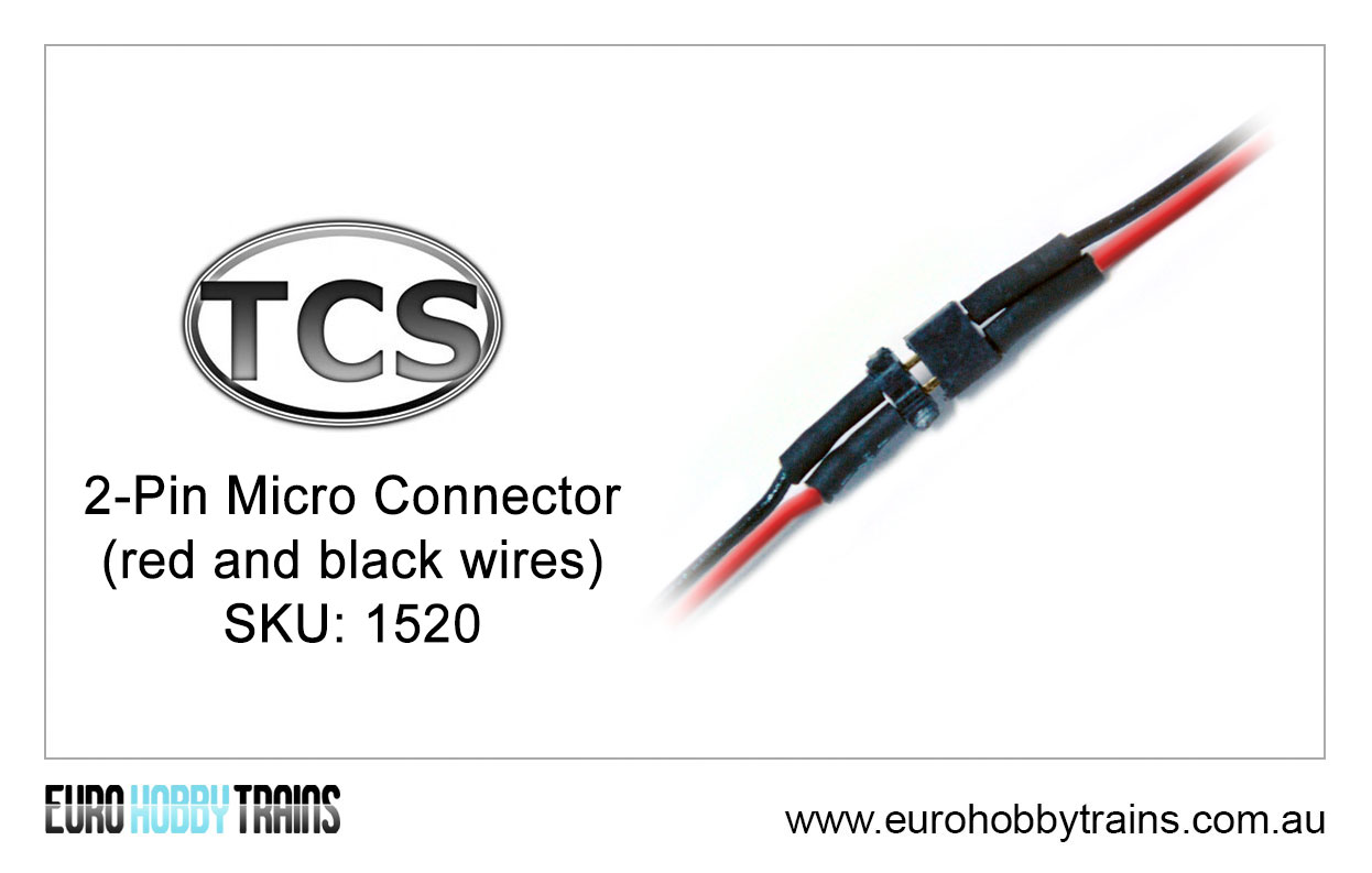 TCS DCC 2-Pin Micro Connector (red and black wires) SKU-1520 | EURO ...